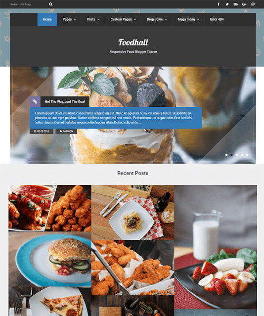 Best Blogger Templates For Food & Recipe Blogs   Foodhall