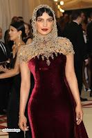 Priyanka Chopra in Maroon Velvet Gown at 2018 MET Costume Insute Gala ~  Exclusive 14.jpg