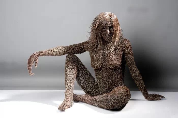 Скульптуры из проволоки. Mattia Trotta