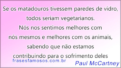 Frases de Paul McCartney sobre Animais