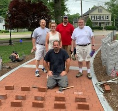 Pictured left to right: Dale Kurtz, Franklin VSO, and members of the Franklin Veterans Council, Sue Theriot, Ernest Carruthers and Bob Gardner with Bill Fredrick of C & A Masonry, Inc. of Franklin.