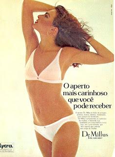 anúncio lingerie De Millus de 1979; 1979; moda anos 70; propaganda anos 70; história da década de 70; reclames anos 70; brazil in the 70s; Oswaldo Hernandez