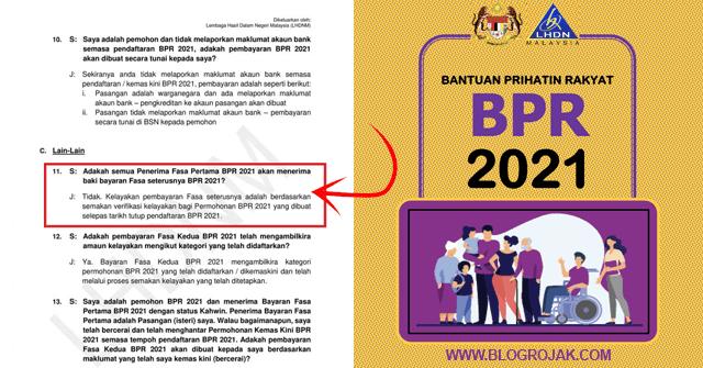 BPR Fasa 2: Permohonan Rayuan BPR Mulai 15-30 Jun 2021 ...