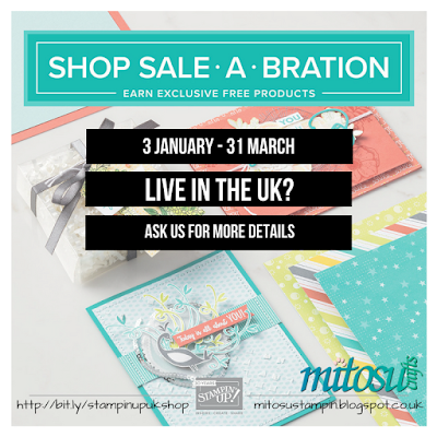 Shop Stampin' Up! Sale-A-Bration to earn exclusive FREE products from Mitosu Crafts UK Online Shop
