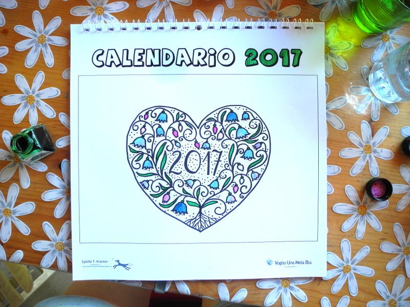 abbastanza Voglio Una Mela Blu: CALENDARIO 2017 da scaricare e stampare GRATIS YI87