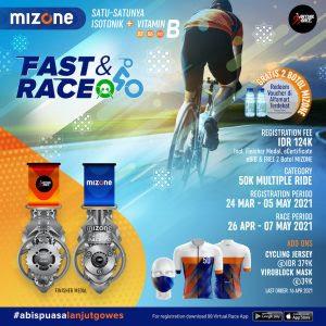 Lomba Sepeda Mizone Fast & Race Bulan Mei 2021