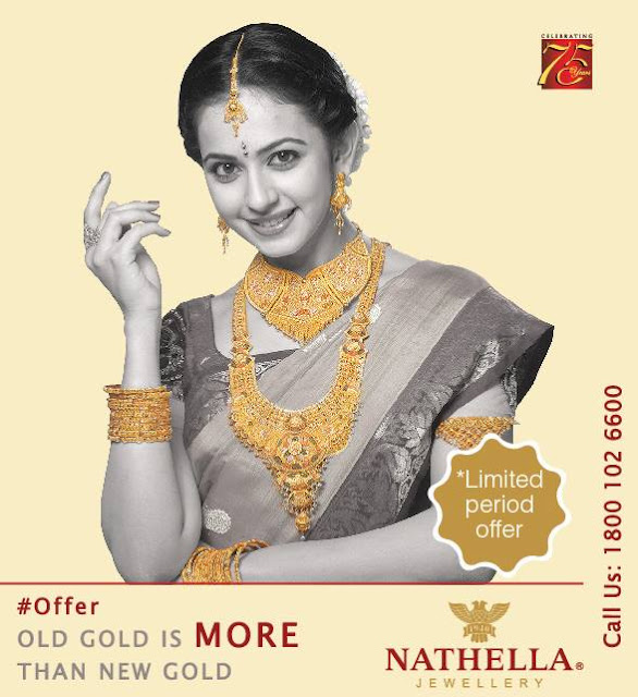 Rakul Preet in Nathella Gold Jewellery