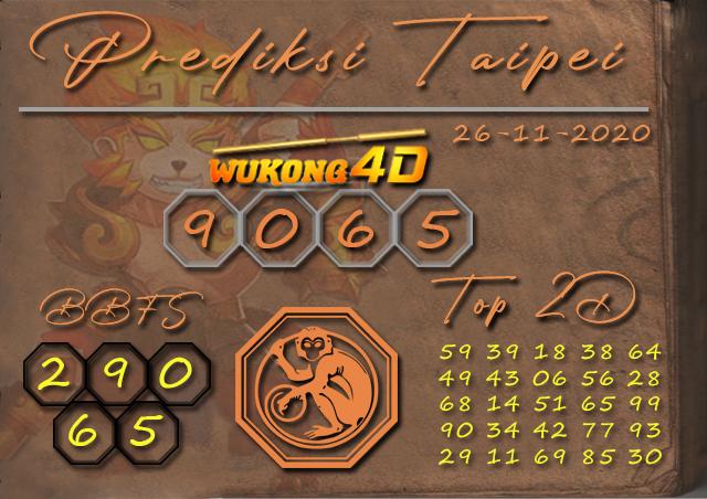 PREDIKSI TOGEL TAIPEI WUKONG4D 26 NOVEMBER 2020