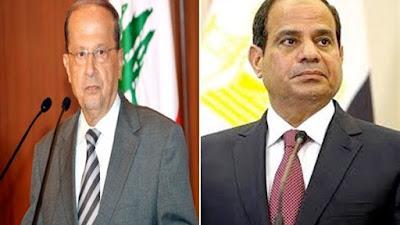 السيسي والرئيس اللبناني