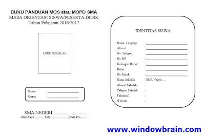 Buku Panduan MOPD/MOS SMA Tahun Ajaran 2016/2017 - Download Contoh