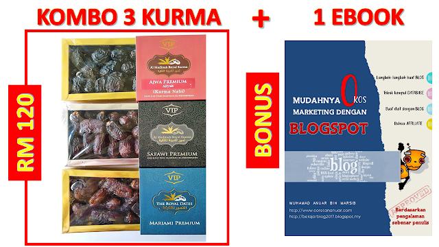 Bonus Untuk Pembelian Combo Kurma Ajwa Aliyah, Mariami, dan Safawi 500g