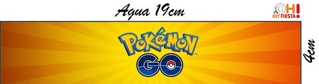 Etiquetas de Pokemon Go para personalizar botella de agua
