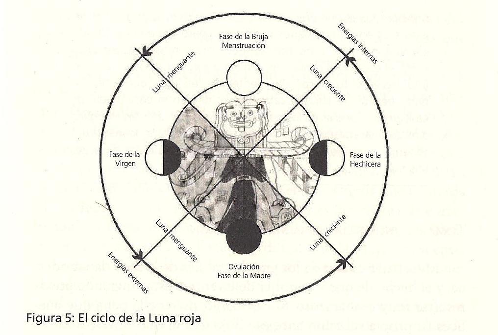 Luna Roja El Diagrama Lunar Luna Blanca Y Luna Roja