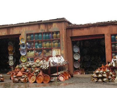 Puestos de venta en el paso de Tizi-n-Tichka