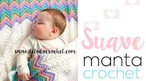 Manta Crochet para bebé / Con Videotutorial