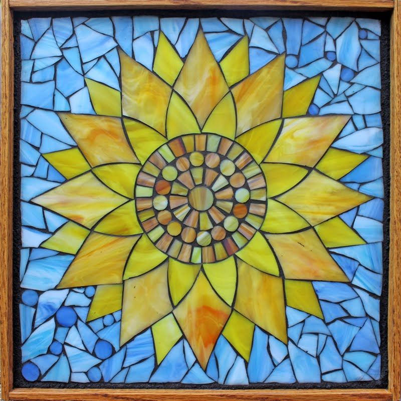 Yellow Sunflower Mosaic
