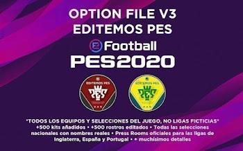 Option File   V3   Editemos PES   PES2020   PS4