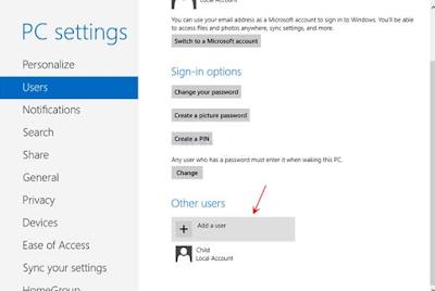 Cara membuat akun pengguna baru di Windows 8