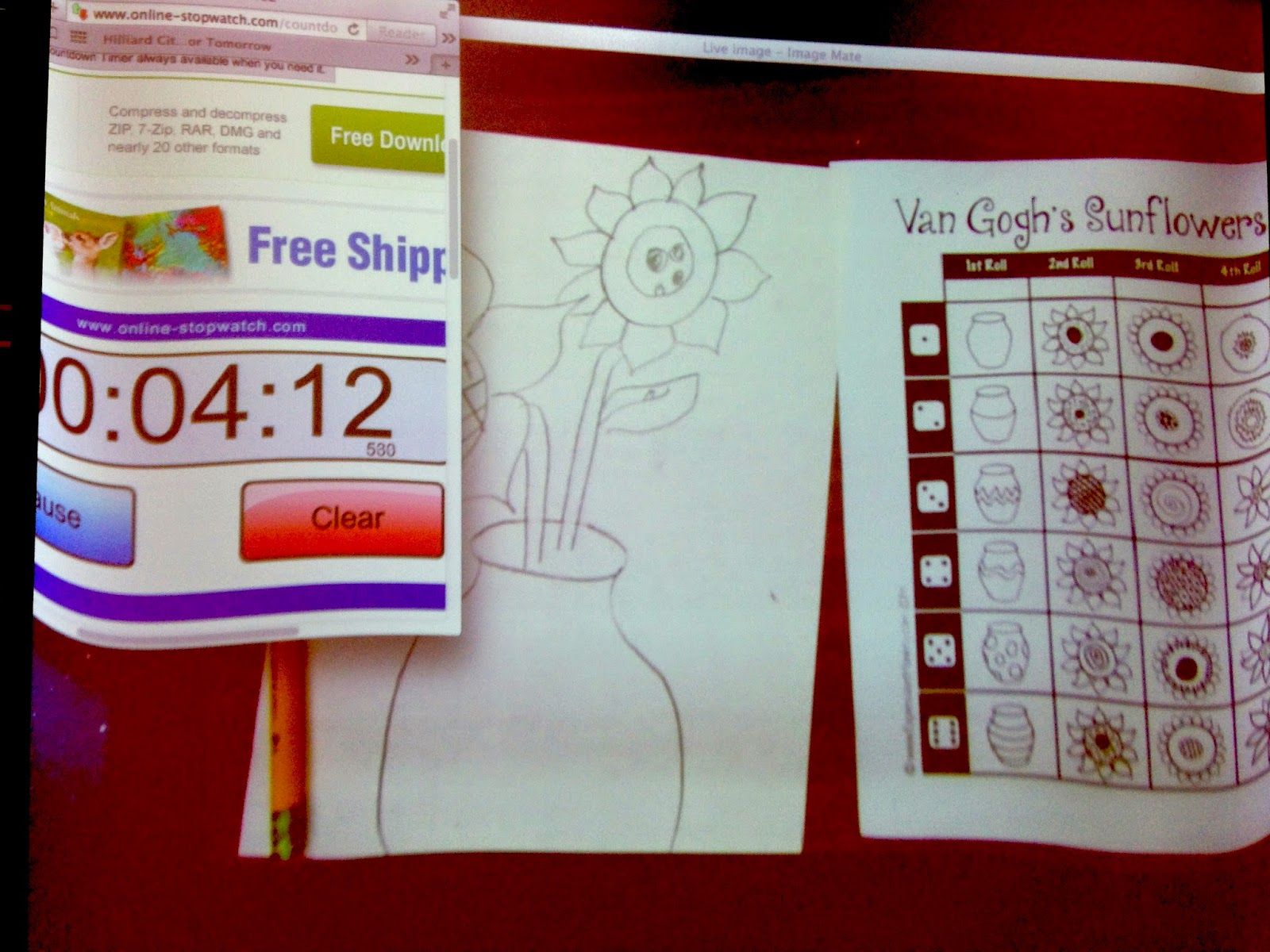 The countdown clock  and other  tips to save time in the art room on Expressive Monkey's Blog.