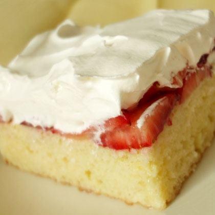 Strawberries & Cream Icebox Cake