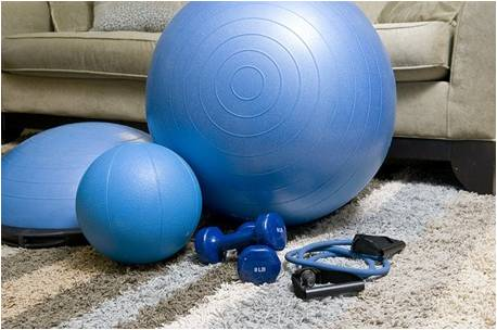 Home gym equipment. Getting adequate home gym equipment is a good fitness tip for busy moms.