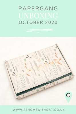 Pinterest graphic for Papergang Unboxing | October 2020