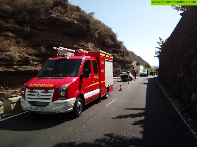 Un vehículo volcó este fin de semana en el Barranco de Las Angustias