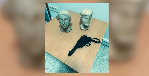المهدية : حجز تماثيل أثرية وآلة لكشف المعادن