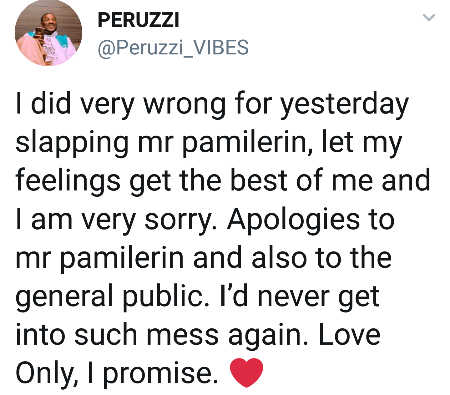 Image result for peruzzi better than teni tweet