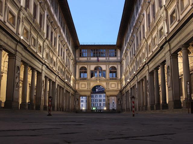 Uffizi Palace in Florence, Italy
