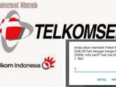 Cara dapatkan Kuota 1 GB Gratis dari Telkomsel dan 2 GB hanya 25 ribu