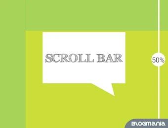 Cara membuat presentase scroll bar pada blog