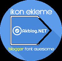 Blogger - Blogspot Font Awesome ikonları Ekleme