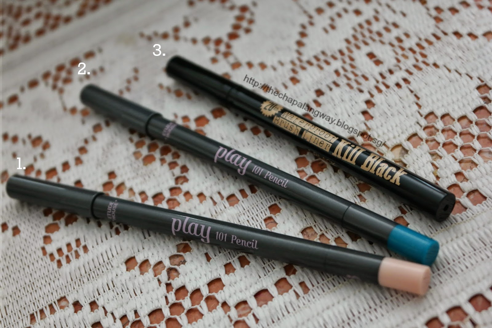 etude house, play 101 liner, clio, clio kill black liner, best eyeliners, color eyeliner