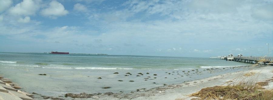 La bahía de Tampa de cara al golfo de México