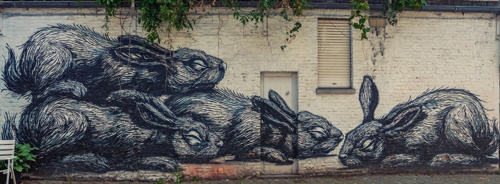 roa street art gand gent