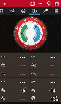 OruxMaps - экран с компасом