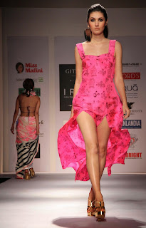 Models in  transparancy wear at 3rd Edition Of India Resortwear Fashion Week 2013
