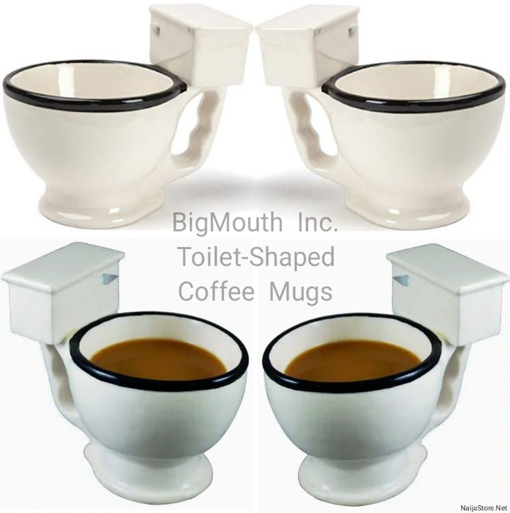 BigMouth Inc Mugs: 12oz Toilet-Shaped Coffee Mug - Funny Ceramic Tea Cups - Suitable as Gag Gifts for Loved Ones