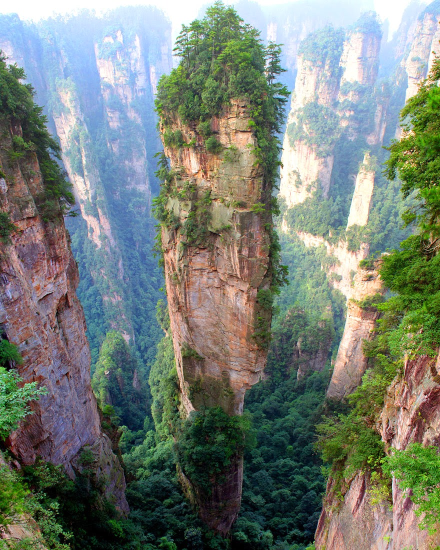 8. Tianzi Moutains in China - 29 Unbelievable Locations That Look Like They're Located On Another Planet