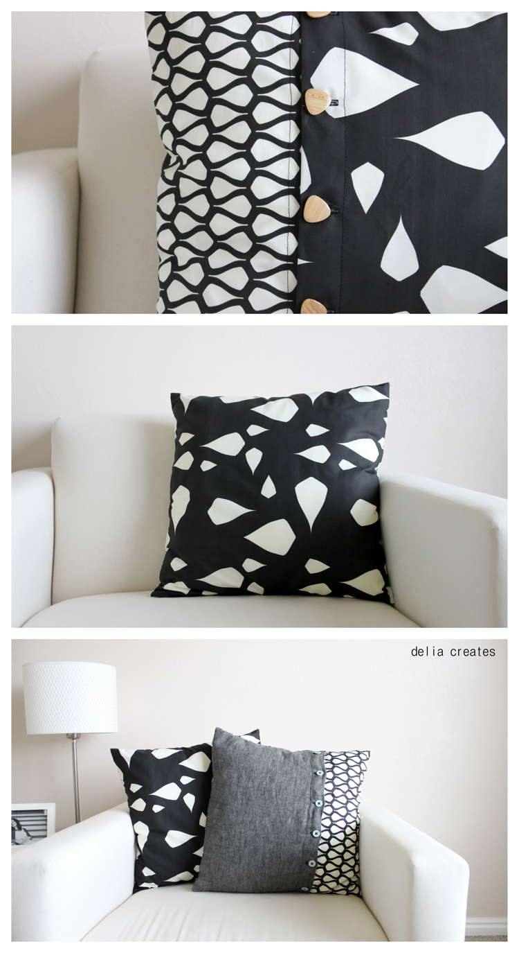 Buttoned Up Envelope Pillow Case Tutorial