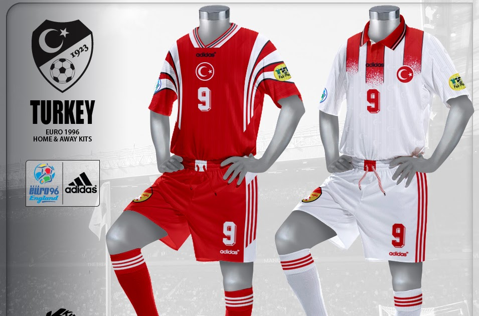 Kire Football Kits: Turkey kits Euro 1996