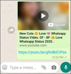 video send hone par is tarah se dikhega
