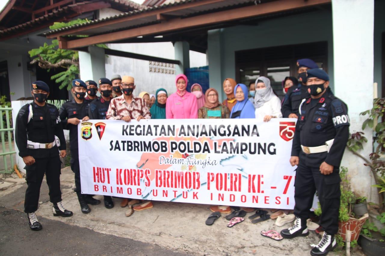 Anjangsana Brimob Lampung Ke Warakauri  Dalam Rangka HUT Korps Brimob Polri ke 75