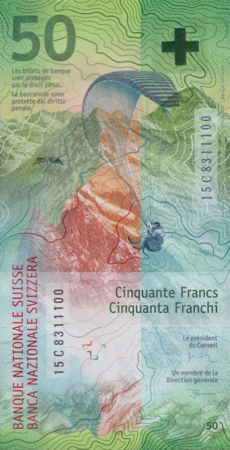 Switzerland Currency 50 Swiss Francs banknote 2016