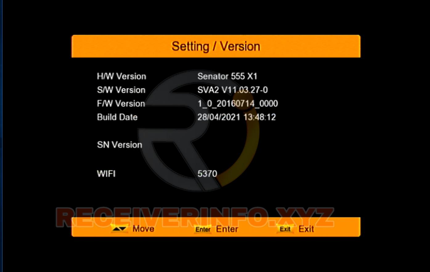 Senator 555 X1 1506Tv Receiver New Software 2021 Sva2 V11-03-27