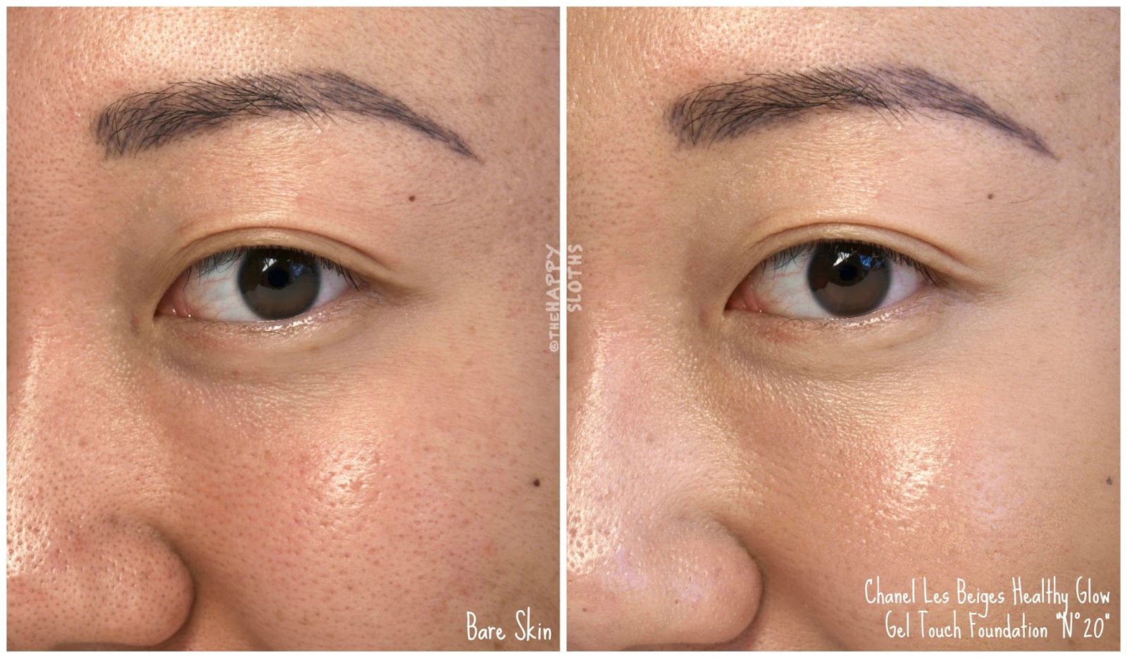 """Chanel Les Beiges Healthy Glow Gel Touch Foundation """"N°20"""" Review Swatches"""