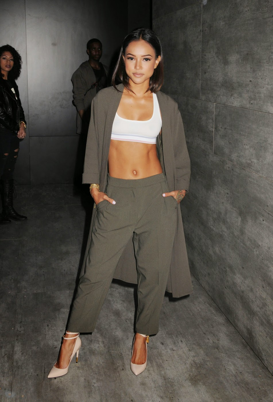 Karrueche Tran Shows Off Her Midriff