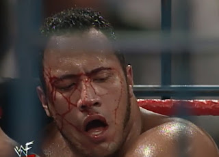 WWF - Breakdown 1998: In Your House 24 - The Rock got busted open in his cage match against Ken Shamrock and Mankind