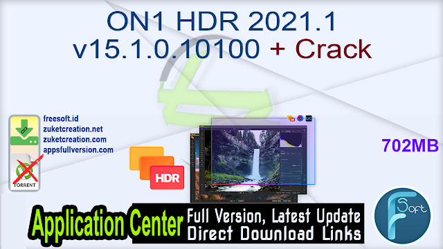 ON1 HDR 2021.1 v15.1.0.10100 + Crack